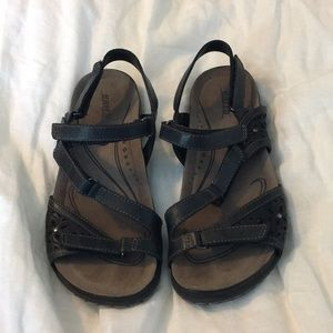 Earth sandals.